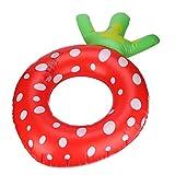 YOUYONGSR Große Süße aufblasbare Erdbeere Obst Schwimmen Donut Ring Pool Pool Float Float Pool schwimmt für Erwachsene Qg2 Größe 70