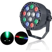 ZjRight Profesional Luz de escenario Pub Club Disco Luz de fiesta Mostrar LED Par Light Negro