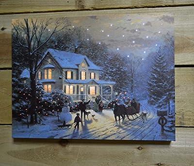 """""""Home for the Holidays"""" Illuminated Wall Canvas Thomas Kinkade"""