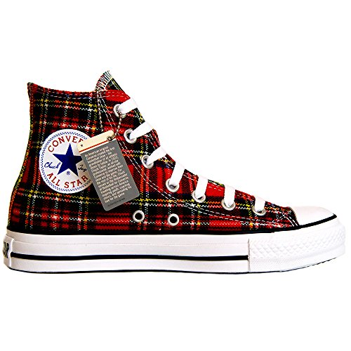 Converse All Star Chucks HI Size= EU: 35 UK: 3 Color= rot-kariert Tartan Schottenmuster