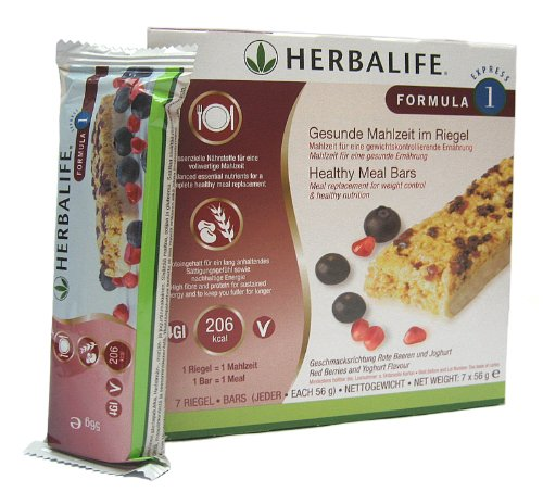 Herbalife Formula 1 Express-Riegel Rote Beeren/Joghurt - 7 Riegel á 56 g