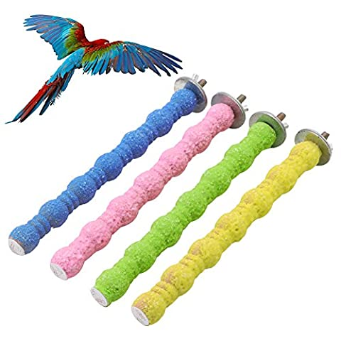 Dairyshop coloré pour animal domestique Cage à oiseaux perchoirs plate-forme de support de broyage de bâtons de Paw jouet à mâcher