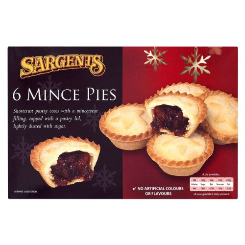 Sargents 6 Mince Pies