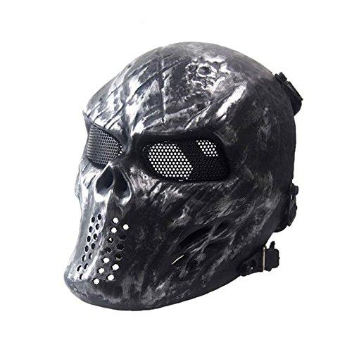 Metal Mesh Eye Gesichtsmaske BB Protect für taktische Airsoft Paintball Eishockey Cosplay M06 Iron Face @WorldShopping4U
