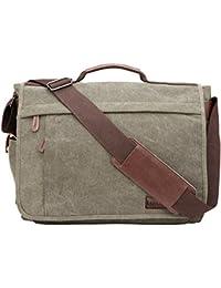 Schwarz Neuleben Vintage Gro/ß Umh/ängetasche Schultertasche 17 Zoll Laptoptasche Canvas Messenger Bag Damen Herren