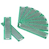 Akozon Basetta Millefori, 10 pz Doppia Faccia Prototipazione Circuiti Stampati Universale Componenti Elettronici per Saldatura a Saldare Fai da te 2 x 8 cm