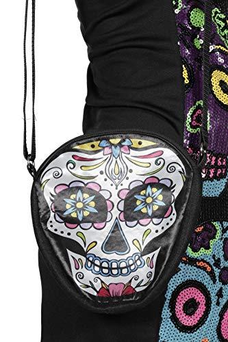 Tag der Toten Umhängetasche Tasche Träger Schädel Bunt Bag Halloween Karneval
