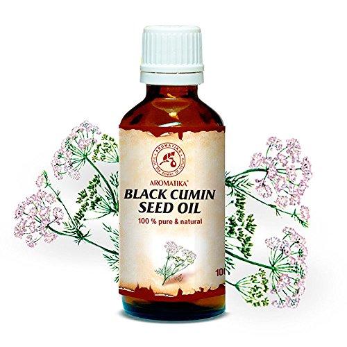Kaltgepresstes Schwarzkümmelöl - Nigella Sativa Seed Oil - Ägypten - 100% Rein und Natürlich Schwarzkümmel Öl - Kümmelöl - Basisöle - Besten Pflege Gesicht - Nägel - Körper - Ätherische Öle Nägel