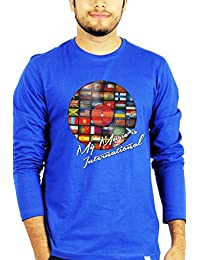 TBT ™ Graphic Men's Full Sleeves T shirt (My Music is International T shirt)