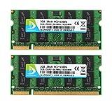 DUOMEIQI 4 GB (2 X 2 GB) 2RX8 PC2-5300 PC2-5400 DDR2 667 MHz CL5 200 Pin 1,8 V SODIMM Notebook RAM Nicht ECC Unbuffered Laptop Speichermodul Kompatibel mit Intel AMD System