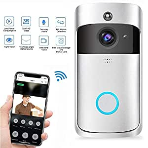 Video Türsprechanlage, Teepao WLAN Türklingel mit Kamera, 720p HD Video Gegensprechanlage mit Echtzeit-Video,Zwei-Wege-Audio, Nachtsicht, PIR-Bewegungserkennung und App-Steuerung für iOS Android