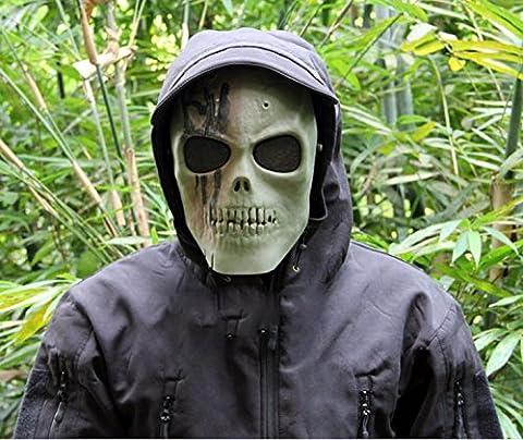 Ecloud Shop® CS field skull mask respirators movie props Battlefield Heroes green skull mask