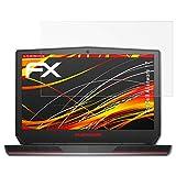 atFolix Schutzfolie kompatibel mit Dell Alienware 17 Bildschirmschutzfolie, HD-Entspiegelung FX Folie (2X)