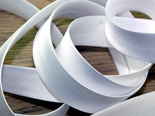 KRAFTZ® - Satin Bias Binding Tape 15MM x 25M White for Sewing Bunting and  Craft
