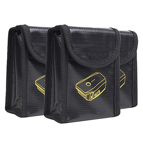 Tianzhiyi Organizzatore di Vestiti Sacchetto Batteria Safe Bag a Prova di Esplosione di Batteria - 3 Pack Safety Guard Protezione antincendio Battery Bag