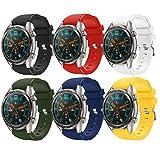 TMCCB Correa para Huawei Watch GT/Watch GT2 46mm Pulsera Banda-[6 Packs] Silicona Reloj de Recambio Brazalete Correas para Huawei Watch GT/Watch GT2 46mm