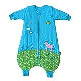 Schlummersack Ganzjahres Schlafsack mit Beinen in 2.5 Tog mit abnehmbaren Ärmeln - Pony - 90 cm