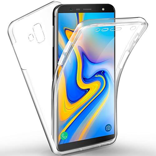 AROYI Samsung Galaxy J6 Plus Hülle 360 Grad Handyhülle, Silikon Crystal Full Schutz Cover [2in1 Separat Hart PC Zurück + Weich TPU Vorderseite] Vorne & Hinten Schutzhülle für Samsung J6 Plus /J6+