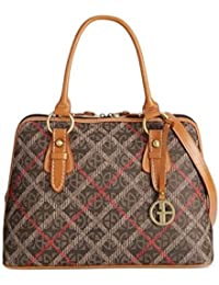 bda8763795054 Giani Bernini Block Signature Plaid Vertical Satchel