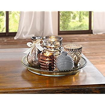 6tlg deko set orient teelichthalter kerzenst nder vasen. Black Bedroom Furniture Sets. Home Design Ideas