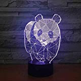 BJDKF Panda Y Oso 7 Color Led Lámparas De Noche Para Niños Touch Led Usb Table Baby Sleeping Luz De Noche