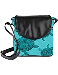 Snoogg Seamless Pattern With Turtles Seamless Pattern Can Be Used For Wallpaper Womens Sling Bag Small Size Tote...