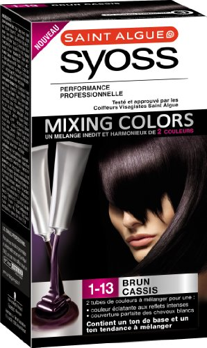 saint algue syoss mixing colors coloration permanente brun cassis 1 13 - Syoss Coloration