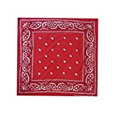 WedDecor Bandana Cotton Unisex Head Scarf Wide Headband Lightweight, Breathable Fashion Accessory for Riding, Hiking, Fishing, Cycling, Outdoor Activities, Red, 54cm