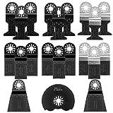 Sägeblätter Set, Preciva 21 pcs Mix Klingen Multitool Oszillierwerkzeug-Zubehör für Fein Multimaster, Milwaukee, Einhell