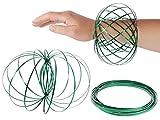 Alsino Magic Ring kinetische Ringe SpiraleMr-100 grün Fidget Edelstahl Spinner Spielzeug-Ringe Magic Flow für Kinder 3D-Flow-Ring