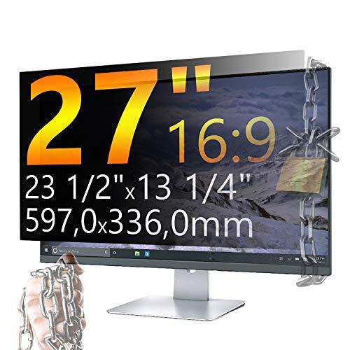 Xianan 27 Zoll 16:9 Breitbild Displayfilter Bildschirmfilter 23,5x13,23zoll/597x336mm Displayschutz Blickschutzfolie Sichtschutzfolie Privacy Filter