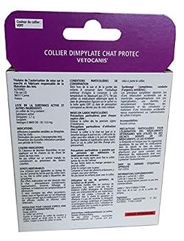 VETOCANIS Collier Anti-puces et Anti-tiques, au Dimpylate pour Chat, 8 MOIS de Protection, Coloris vert