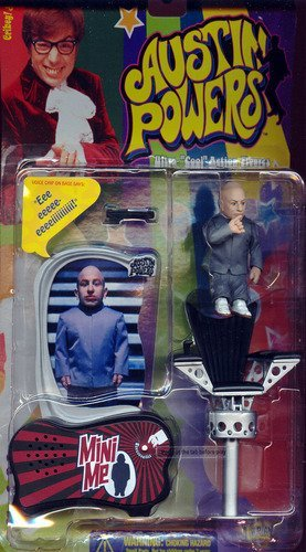 Austin Powers 8 cm Mini Me Action Figure with Chair and Voice Chip Base