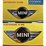Mini Cooper S Kit Adhesivo Stickers Logo Mini S escudo badge delantera + trasera resinato efecto 3d adhesivo 3M capó Baúl 1pieza 32mm + 1pieza 44mm