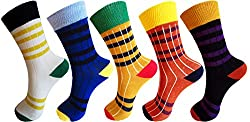 Elegant Design Soft Cotton Socks For Boys/Girls in Assorted Colors (pack of 5)