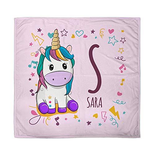 Manta Unicornio Bebe Personalizada Nombre. Regalo