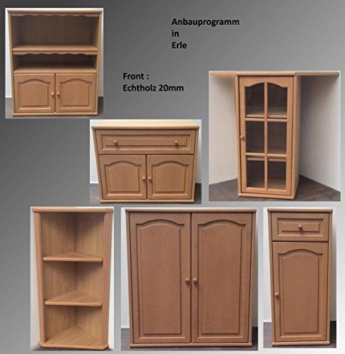 Kommode Regal Sideboard Wohnwand Erle Front Massiv Schublade Flurmöbel Wohnmöbel (Kommode 2 Türen M-1301) - 3