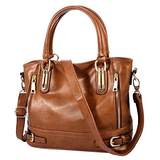 Vbiger Large Handbag Zipper Satchel Tote Bag Shoulder Bag for Women