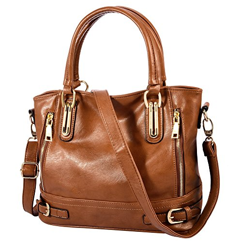 - 51hq72oj0EL - Vbiger Large Handbag Zipper Satchel Tote Bag Shoulder Bag for Women