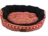 snug & cosy Fibre Christmas Dog Bed