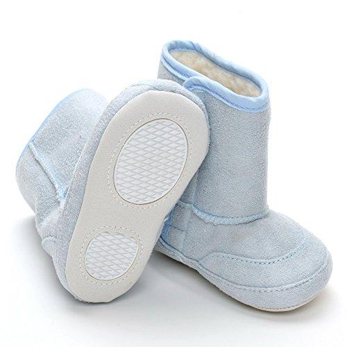 Infant Klettverschluss Lange Stiefel, Pink - rose - Größe: 12-18 monate Blau