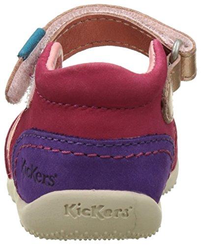 Kickers Bimambo, Ballerines Bébé Fille Rose (Fuchsia Orange Violet)