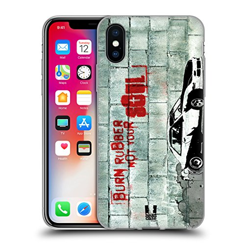 Head Case Designs Highcross Stampa A Croce Cover Morbida In Gel Per Apple iPhone 7 / iPhone 8 Burning Rubber