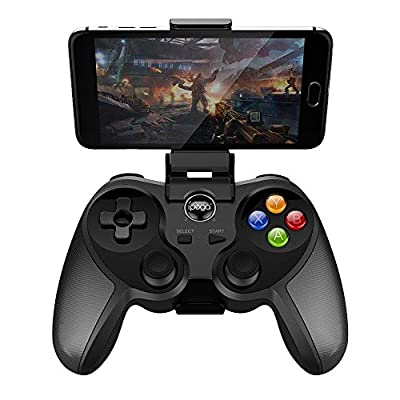 Bluetooth Wireless Gamepad Joystick with Adjustable Holder for Android Smartphone