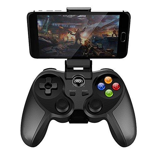 ACGAM PG-9078 Contrôleur de Jeu sans Fil Bluetooth Gamepad, Wireless Transmission Smart Gamepad Controller avec Support Ajustable & Capteur Hall pour