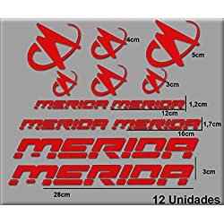 Ecoshirt 1E-4EG0-4YUM Pegatinas Merida R63 Vinilo Adesivi Decal Aufkleber Клей MTB Stickers Bike, Rojo