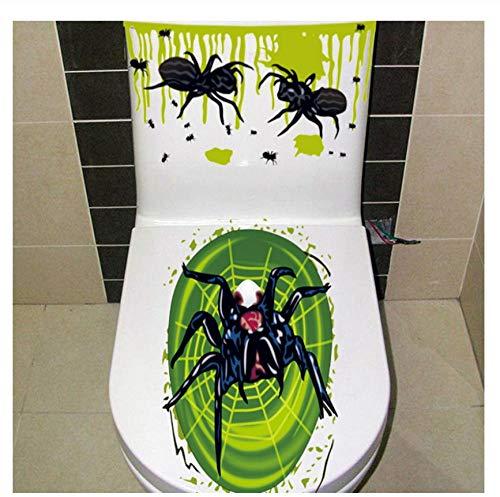 Wppaper Halloween Wc Aufkleber Horror Scary Skeleton Skull Clown Spider Mouse Aufkleber für Heimtextilien Halloween Wandaufkleber 31 * 60cm - Stereo-spider Auto
