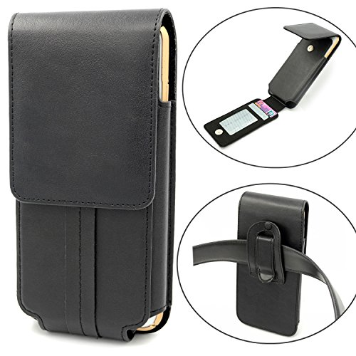 Mopaclle iphone 7 Plus Gürtelclip Hülle Leder Holster Handytasche Gürteltasche Schutzhülle Case mit ID Card Slots für iphone 6 6s Plus,Samsung Galaxy S8 Plus / Edge,J7 ,Note 5,Huawei Honor 5X (Samsung S5 Otterbox-holster Case)