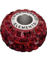 Grand Trou Perles de Verre a enfiler de Swarovski Elements 'BeCharmed Pave' 15.0mm (Siam, Acier affiné), 12 Pièces