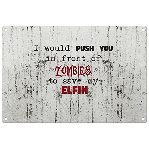 save-my-elfin-from-the-zombies-vintage-decorative-wall-plaque-ready-to-hang